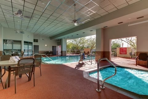 Professional Hotel photography of Drury Hotels indoor/outdoor pool