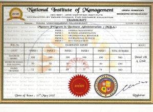 MBA marksheet1