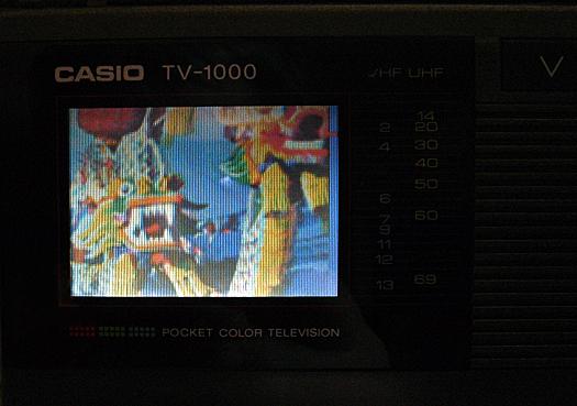 Casio TV 1000 Screen Shot photographed January 1, 2011