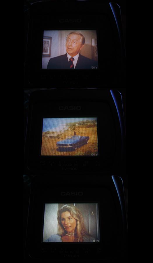 Casio TV 600 Retro Screen Shots photographed September 15, 2010