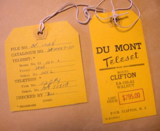 Clifton price tag