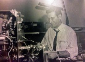 Julius Shapiro in Chromatic Lab. Paramount Building Late 1950's Courtesy Laurie Shapiro
