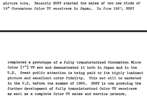 Sony Annual Report October 31, 1967