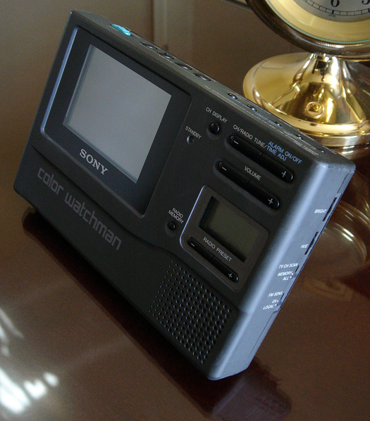 Sony FDL 3500 Color Watchman AM/FM stereo tuner Clock/Timer photographed May 1, 2010