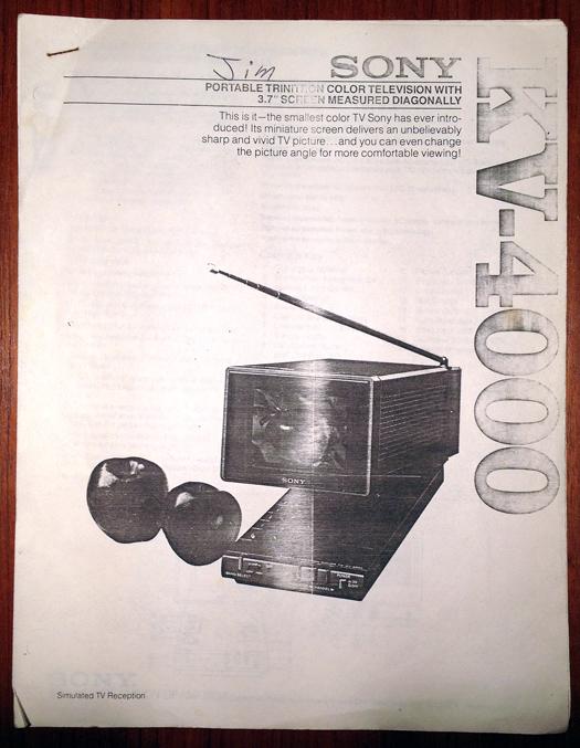 Sony KV 4000