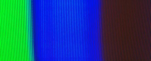 Sony KV 7010U Chromatron Phospher strips photographed February 16, 2013