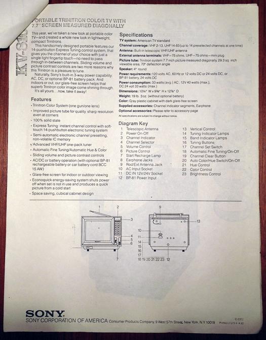 Sony KV 8100