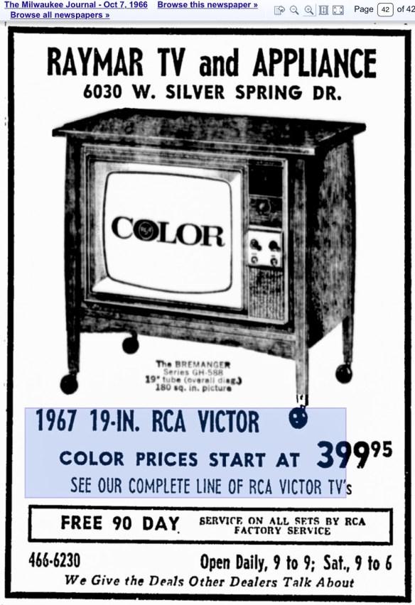 Courtesy Milwaukee Journal October 7, 1966