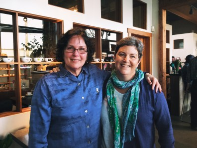 Visions' fearless leader Dawn Loraas (left) with Laura Summers of Espresso Supply.