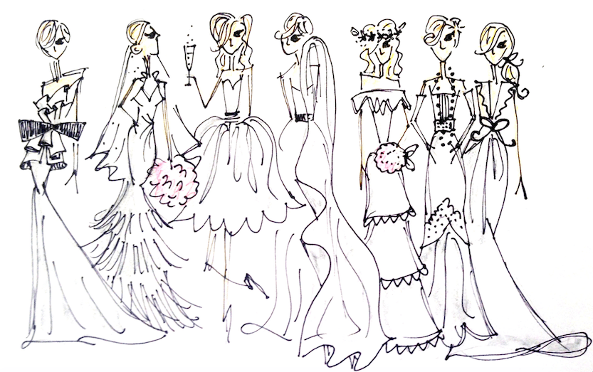 Bridal Quiz Sketches