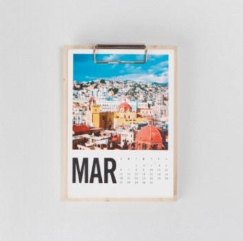 Custom Modern Photo Calendar