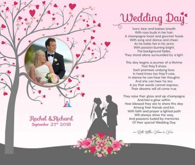 Heart Tree Original Art Poem Personalized Wedding Gift