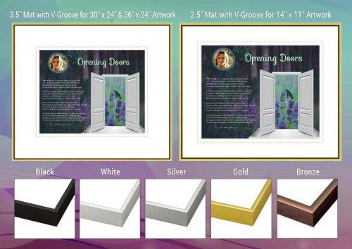 Opening Doors Purple Frame and Mat Choices