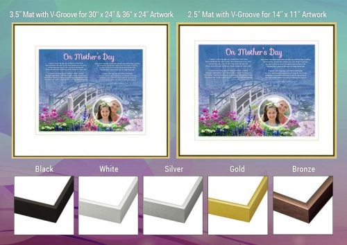 Mother's Day Bridge with Wildflowers Frame and Mat Choices