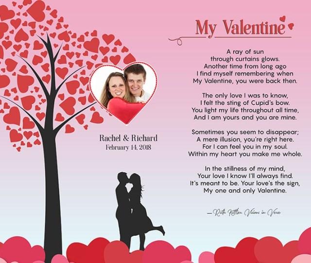 Valentine Heart Tree Art Poem Personalized Gift