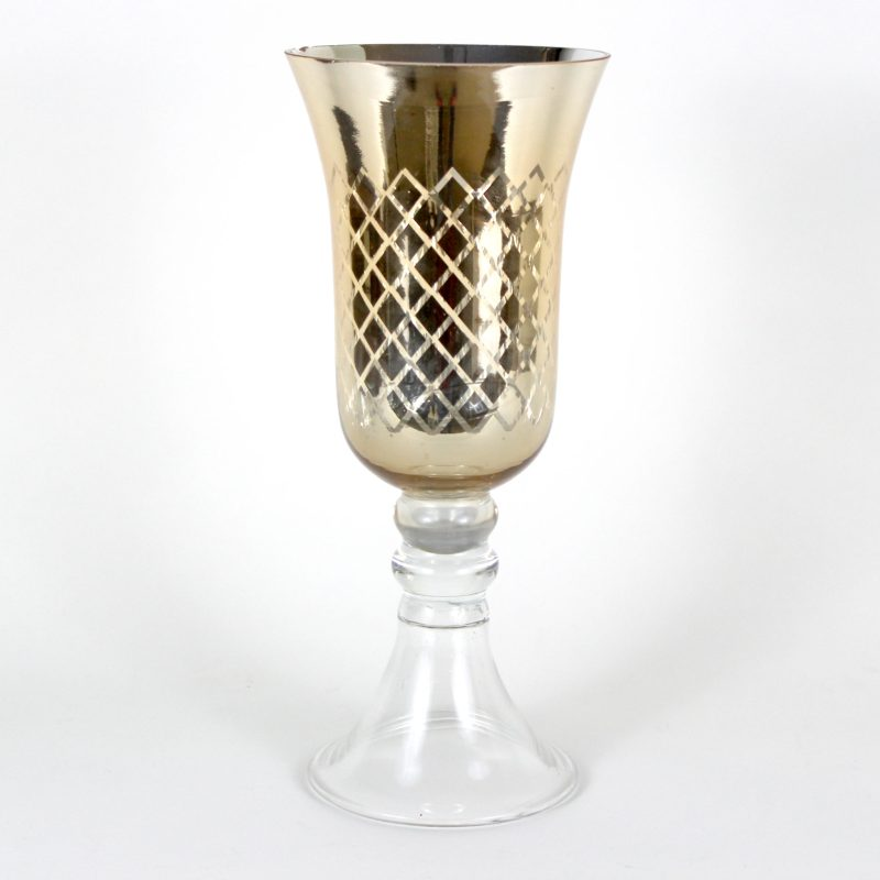 Visions Kc Event Services Gold Hurricane Mercury Glass Candle