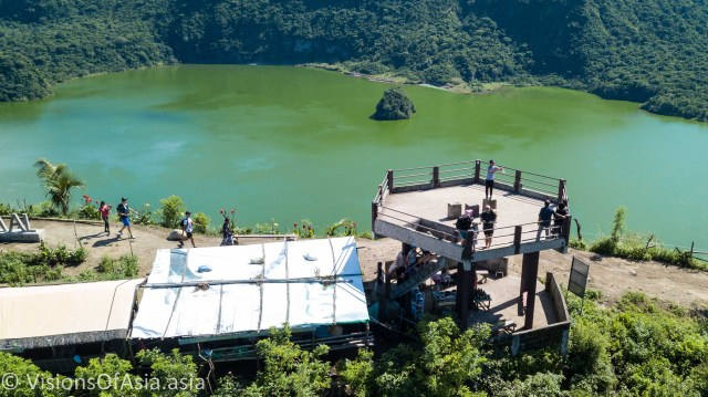 Taal crater seen by drone