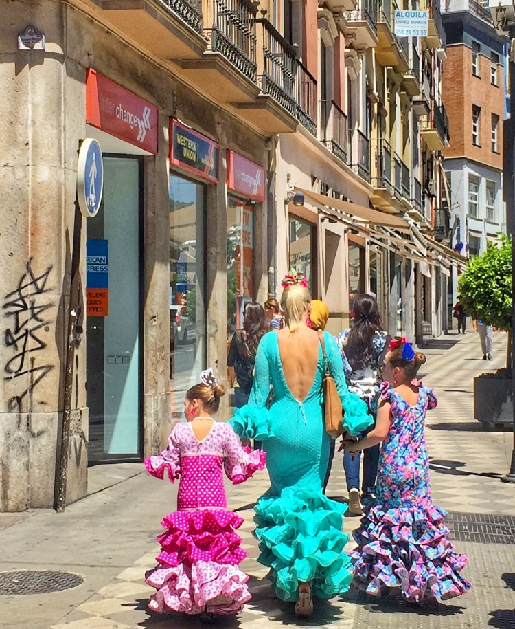 Flamenco women, Spain