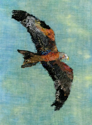 Red Kite by Barbara Shaw (@art_in_textiles)