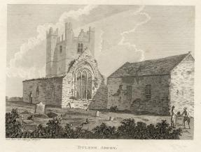 38. St Marys Abbey, Duleek, Co. Meath - Copper engraved print published in Francis Grose's Antiquities of England and Wales, 1786