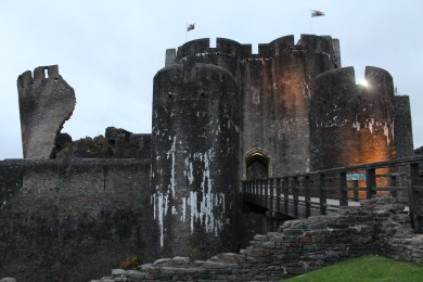 63. Caerphilly Castle, Wales