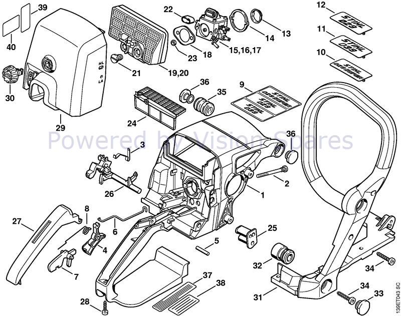 Stihl 029 Chainsaw Parts Diagram