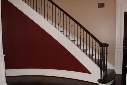 Curved Iron Baluster Staircase 2