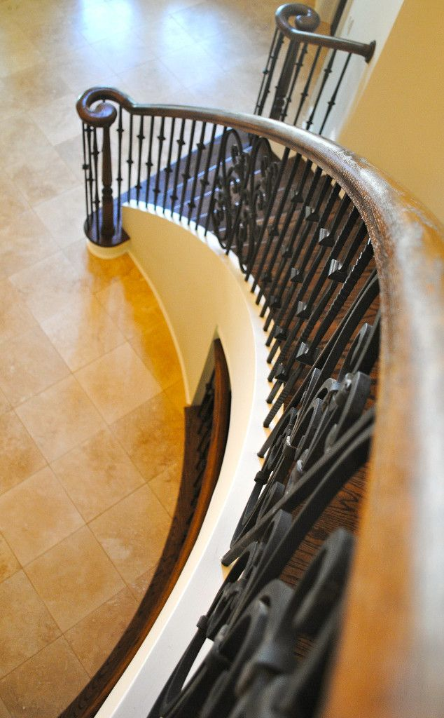 Curved Staircase Iron Balusters