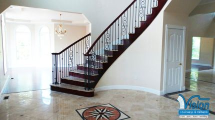 Curved Staircase with Stone treads