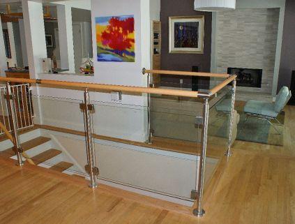 Glass Straight Stairway 3