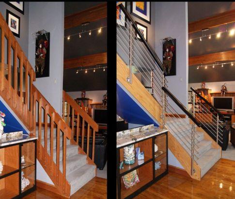Modern Rail Staircase