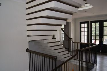 Straight Staircase Remodel