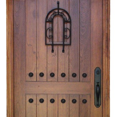 03 - Walnut Arched top Single Door with Speakeasy and Clavos