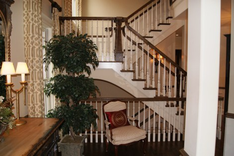 06 - Transitional Straight Sissor stair Freestanding