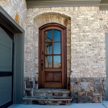 10 - Soft Arched 6 lite single door