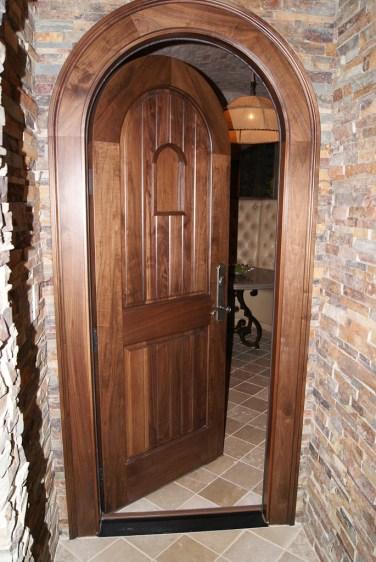 12 - Solid Mahogany Wine Cellar door