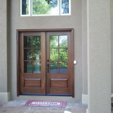 15 - Facade 6 lite Mahogany door with clear glass