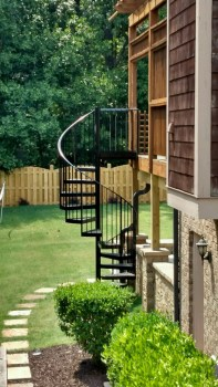 Aluminum spiral staircase by Vision Stairways