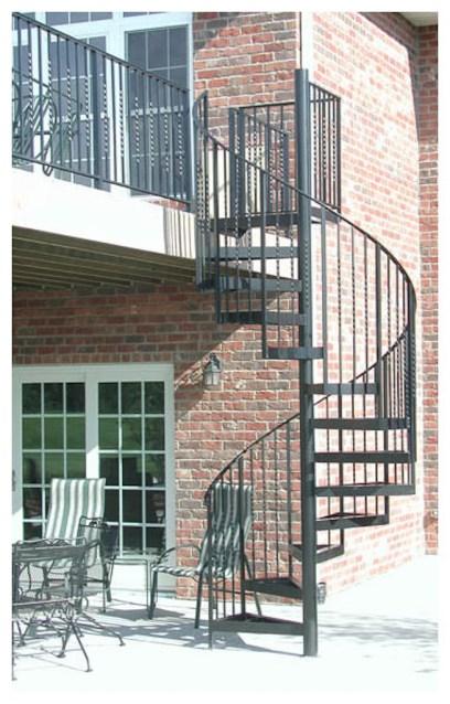 18 - Exterior Spiral stair 1
