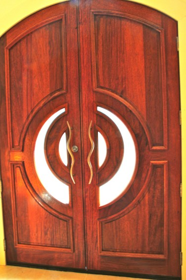 33 - Custom Mahogany Double doors