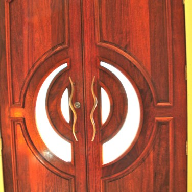 33 - Custom Mahogany Double doors