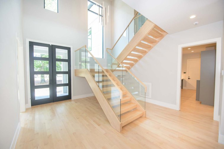 84 -Straight Staircase Remodel Modern