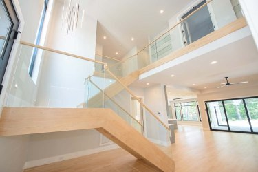 83 -Straight Staircase Remodel Modern