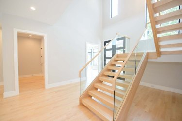 82 -Straight Staircase Remodel Modern