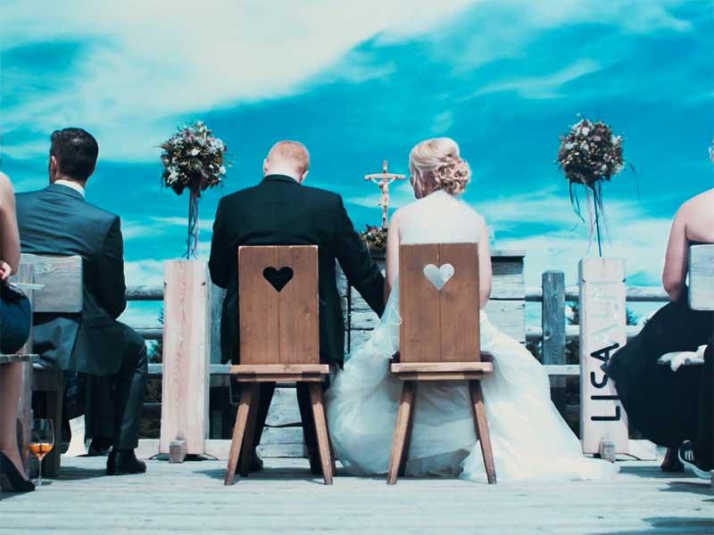 Hochzeitsvideo Teilen