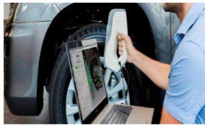 Escaneo de un neumático