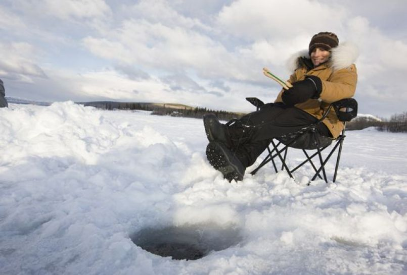 winter fishing in Belarus