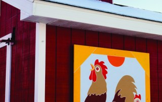 Rooster and Hen Barn Quilt