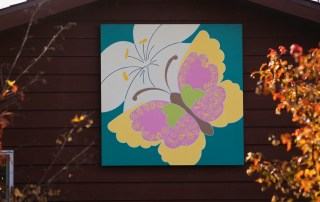 Butterfly and Flower Barn Quilt