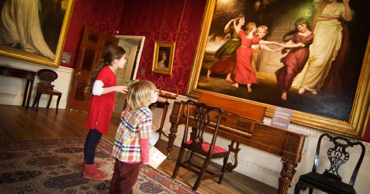 The Georgian Rooms and 18th century paintings at Abbot Hall Art Gallery